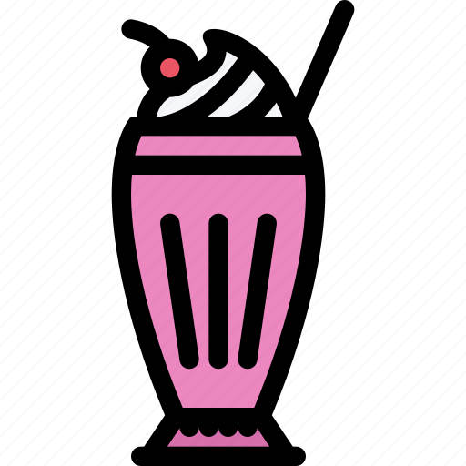 cafe, coffee shop, dessert, milk, pastry, pastry shop, shake icon
