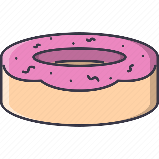 cafe, donut, food, snack, sweet icon
