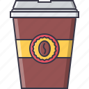 cafe, coffee, drink, glass, snack icon
