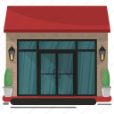 cafe, cafeteria, dine in, hotel, restaurant icon