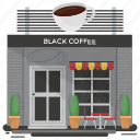 bar, black coffee, cafe, cafeteria, coffee shop icon