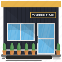 bar, cafe, cafeteria, coffee shop, coffee time icon