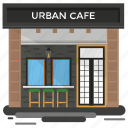 bar, cafeteria, coffee shop, restaurant, urban cafe icon