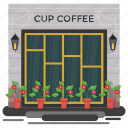 cafeteria, coffee shop, cup coffee, family cafe, restaurant icon