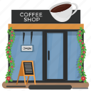 bar, cafe, cafeteria, coffee shop, restaurant icon