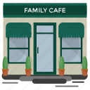 bar, cafeteria, coffee shop, family cafe, restaurant icon
