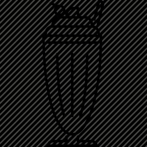 Cherry, drink, milk, shake, sweet icon - Download on Iconfinder