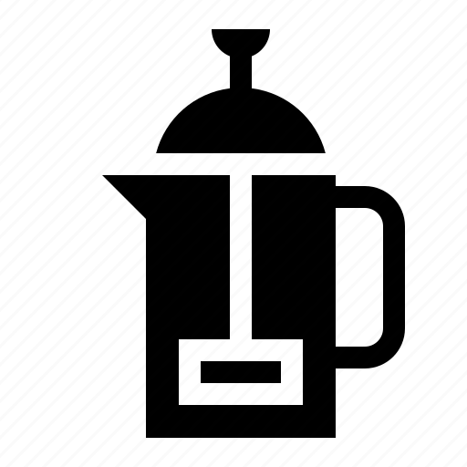 beverage, cafe, coffee, drinks, french press icon