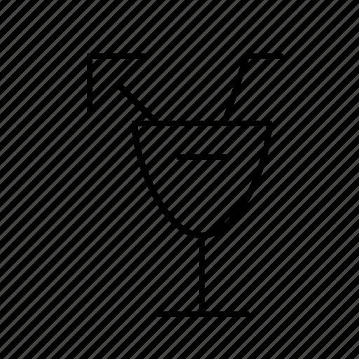 bar, cocktail, diner, drink, food, restaurant, umbrella icon