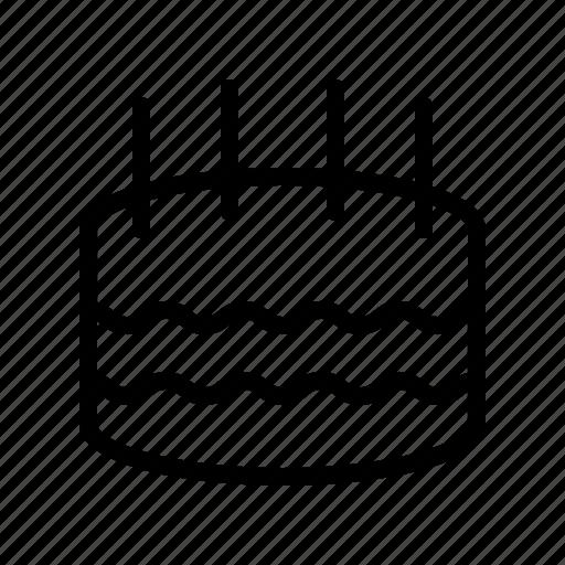 bakery, bar, birthday, cake, diner, food, restaurant icon