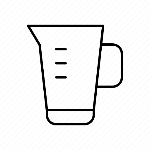 bar, beaker, diner, food, jug, measuring, restaurant icon