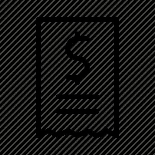 bar, bill, diner, dollar, drink, food, restaurant icon