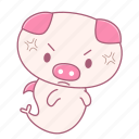 irritated, angry, rage, caheo, pig, fish icon