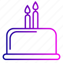 birthday, cake, candles, desert, dessert, line icon