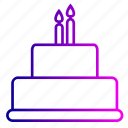 birthday, cake, candles, christmas, decoration, desert, party icon