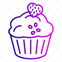 birthday, cake, candles, celebration, cherry, sweet icon