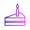 birthday, cake, candles, creative, dessert, line, party icon