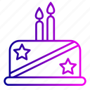 birthday, cake, candles, desert, food, party, vegetable icon