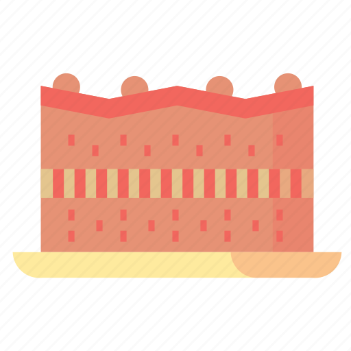 brownies, cake, desserts, food, sweet icon