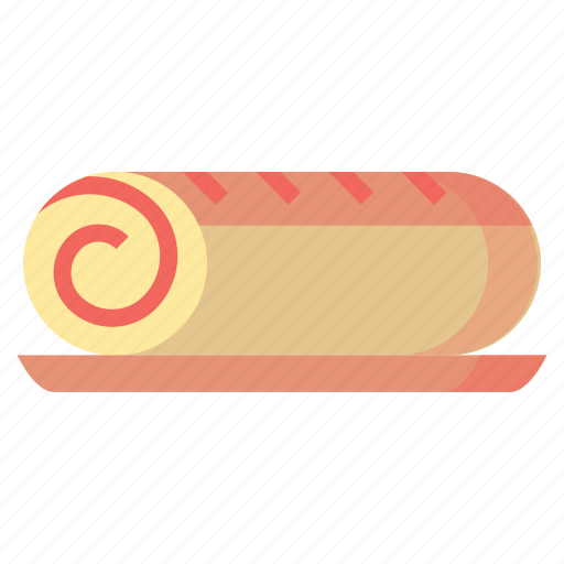 cake, desserts, food, roll, sweet icon