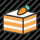 bakery, cake, carot cake, dessert, sweet icon