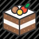 bakery, black forest cake, cake, chocolate cake, dessert, sweet icon