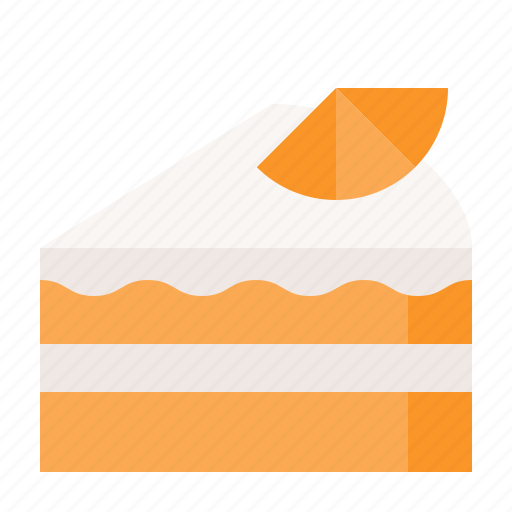 Bakery, cake, dessert, orange cake, sweet icon - Download on Iconfinder
