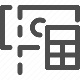 calculation, calculator, change, money, saving, tip icon
