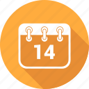 calendar, date, deadline, event, february, plan, scheduleday icon