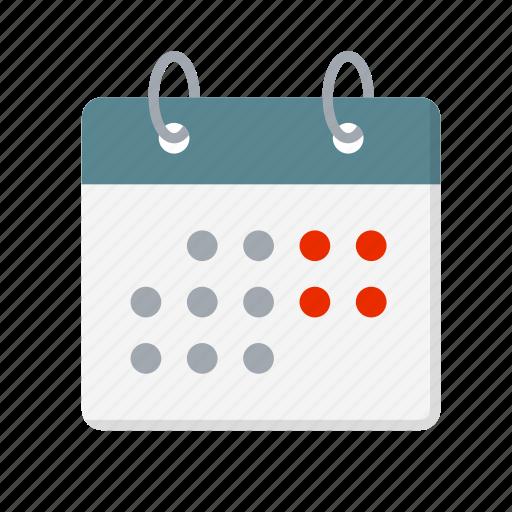calendar, free, leisure, saturday, sunday, week, weekend icon