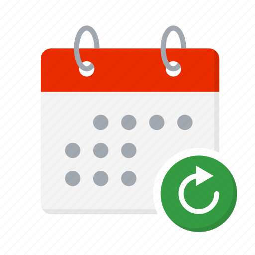 Arrow, calendar, check, load, reload, repeat, sync icon - Download on Iconfinder