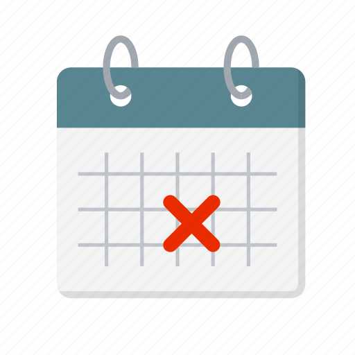 appointment, calendar, cancel, cancellation, date, delete, wrong icon