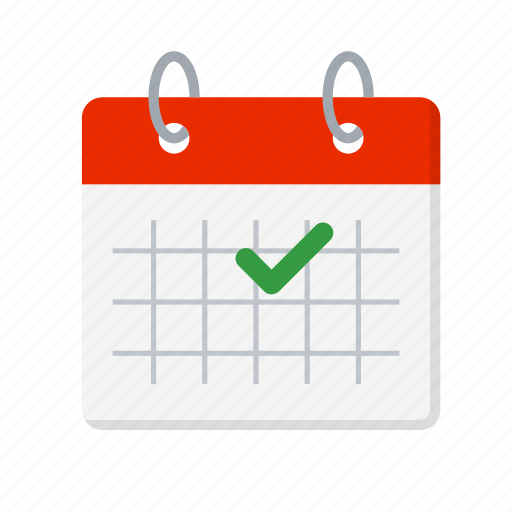 appointment, calendar, check, date, done, important day, tick icon