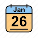 calendar, date, jan, january, schedule icon, th icon