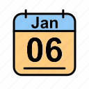 calendar, date, fr, jan, january, schedule icon icon