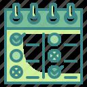 organization, timetable, list, schedule, date, calendar, checklist icon