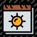 sun, sunny, weather