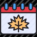 date, leaf, autumn, schedule, calendar