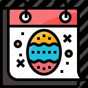 calendar, celebrations, day, easter, egg, event