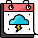 calendar, cloud, forecast, network, season, storm, weather