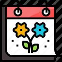 calendar, flower, forecast, nature, season, spring, weather