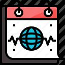calendar, day, health, heart, medical, rate, world
