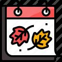 autumn, calendar, forecast, leafs, leave, season, weather