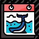 calendar, ecology, environment, ocean, save, sea, whale