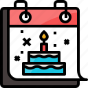 birthday, cake, calendar, candle, celebration, happy, party