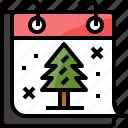 calendar, christmas, season, snow, tree, winter, xmas