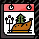 calendar, celebration, chicken, christmas, dinner, eve, holiday