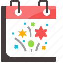 calendar, celebration, happy, holiday, new, party, year