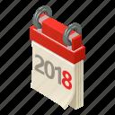 agenda, calendar, isometric, logo, month, object, reminder