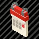 agenda, date, isometric, logo, month, object, turning